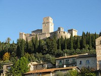 Rocca Maggiore Castle in Assisi Italy