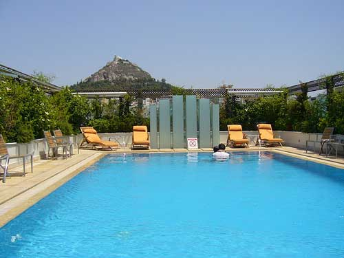 Athens, hotel pool