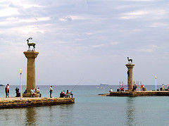 Rhodes Harbour Entrance